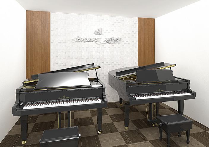 カワイ横浜 2台グランドピアノレッスン室 イメージ