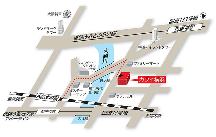 『カワイ横浜』略地図
