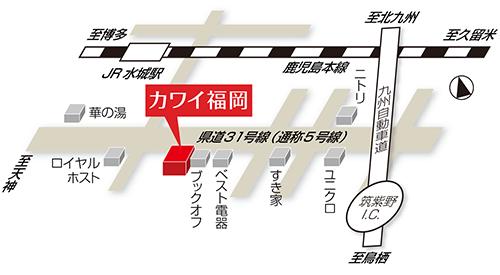 『カワイ福岡』地図