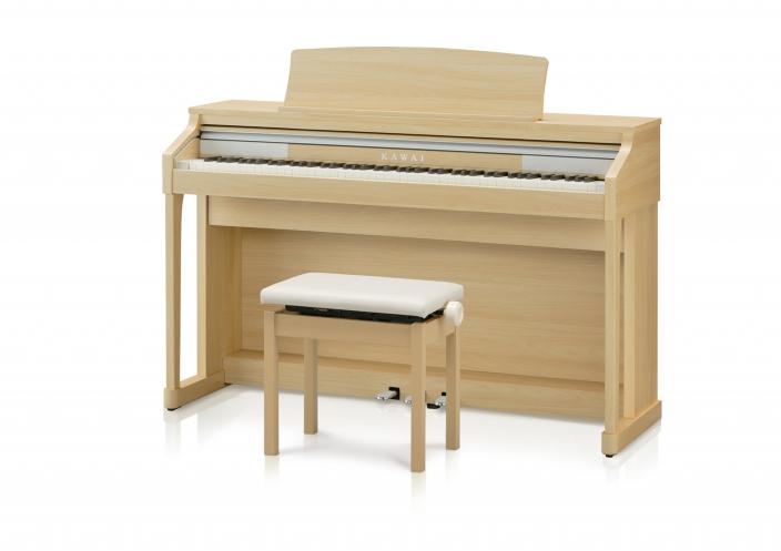 フルコンサートピアノ「SK-EX」サウンドと木製鍵盤を搭載したデジタルピアノ 『CA17』に新色『プレミアムライトオーク調仕上げ』が登場