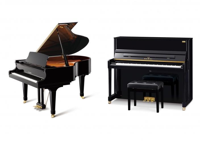 河合楽器製作所創立90周年記念モデル グランドピアノ・アップライトピアノ限定発売</br>グランドピアノ 1機種・アップライトピアノ3機種を発売