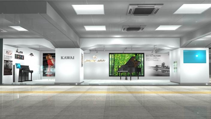 浜松駅新幹線コンコース大展示場に創立90周年記念展示を開始
