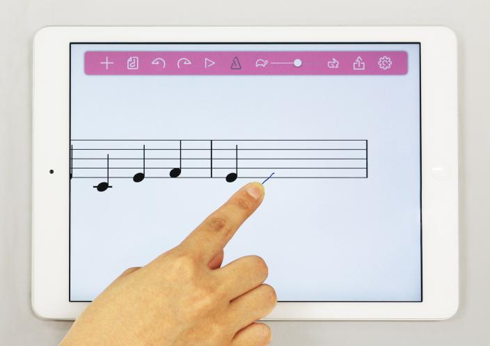 手書きでスラスラ 音楽の授業で楽しく楽譜を学ぶ<br/>『おんぷノート』を公開